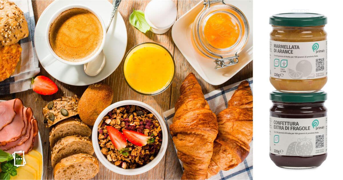 Con la tua colazione senza glutine, hai in regalo una confezione di marmellata